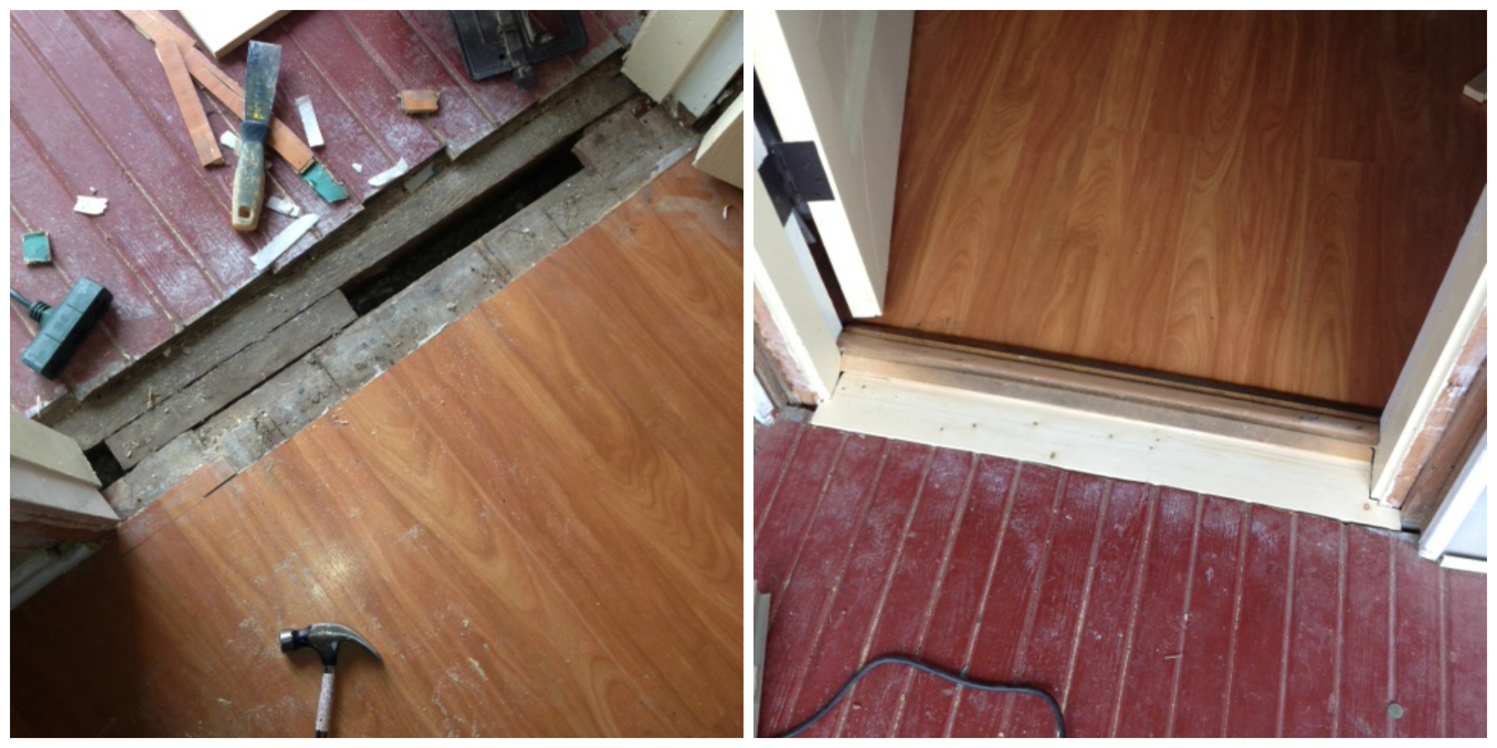 Laminate Flooring At Exterior Door