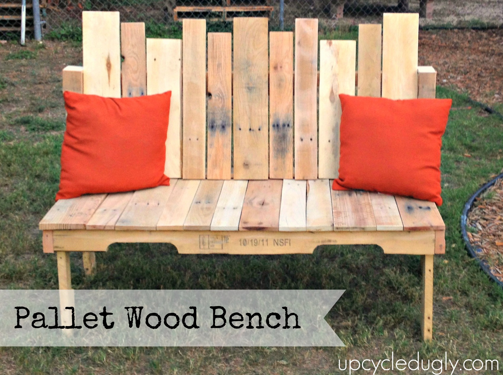 How To Pallet Wood Bench