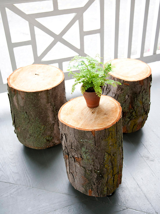 How To Simple Stump Stool With Caster Wheels Upcycled Ugly